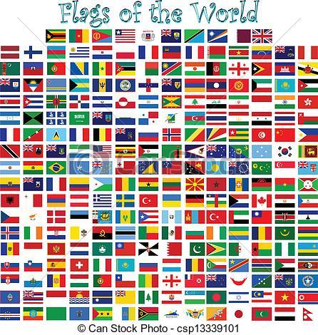 World flags clipart.