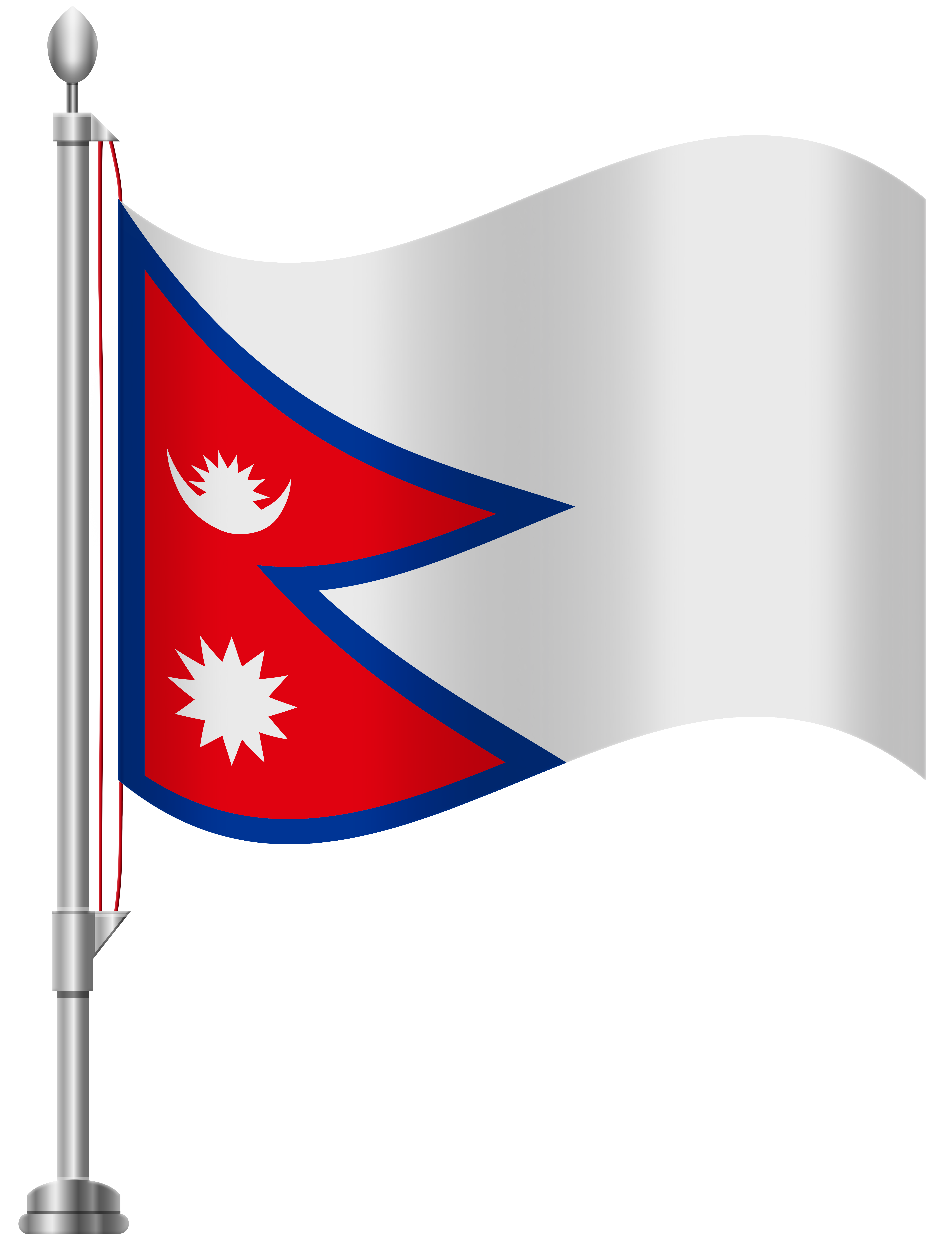 Nepal Flag PNG Clip Art.