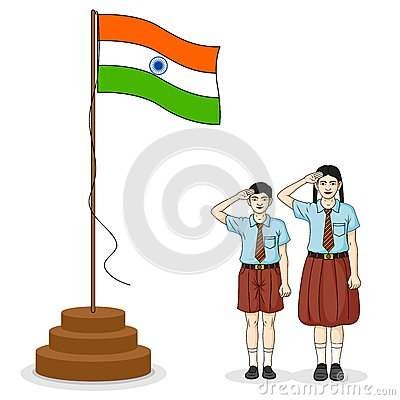 Indian Kid Flag India Stock Photos, Images, & Pictures.
