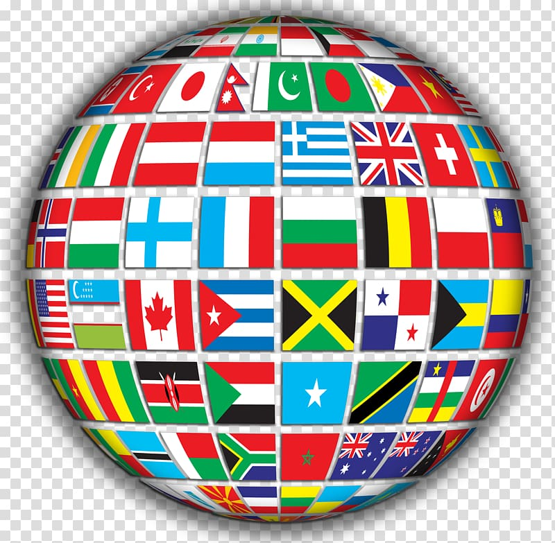 Globe Flags of the World , Country Flag transparent.