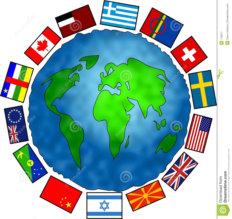 Flag Planet stock illustration. Illustration of conceptual.