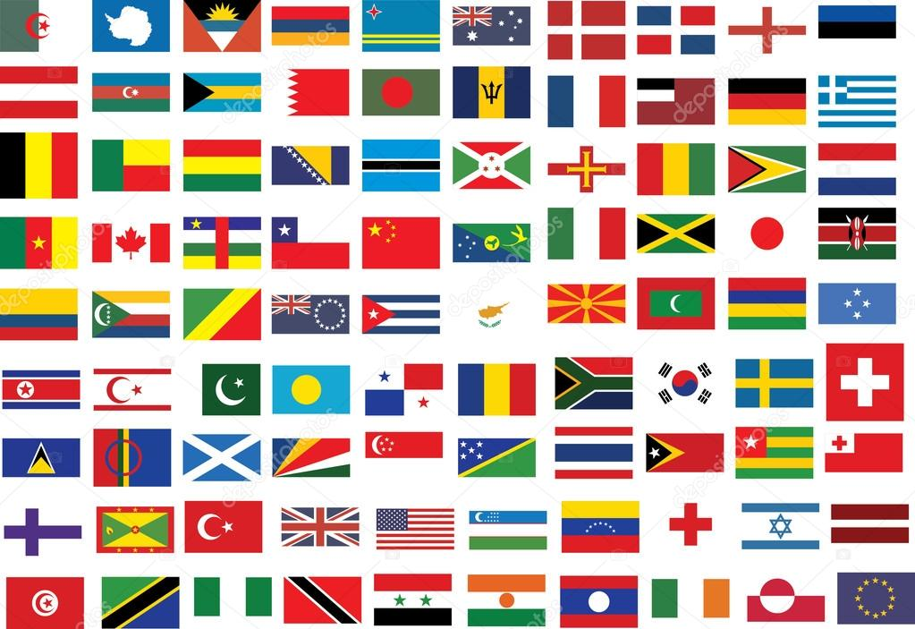Clipart: country flags.