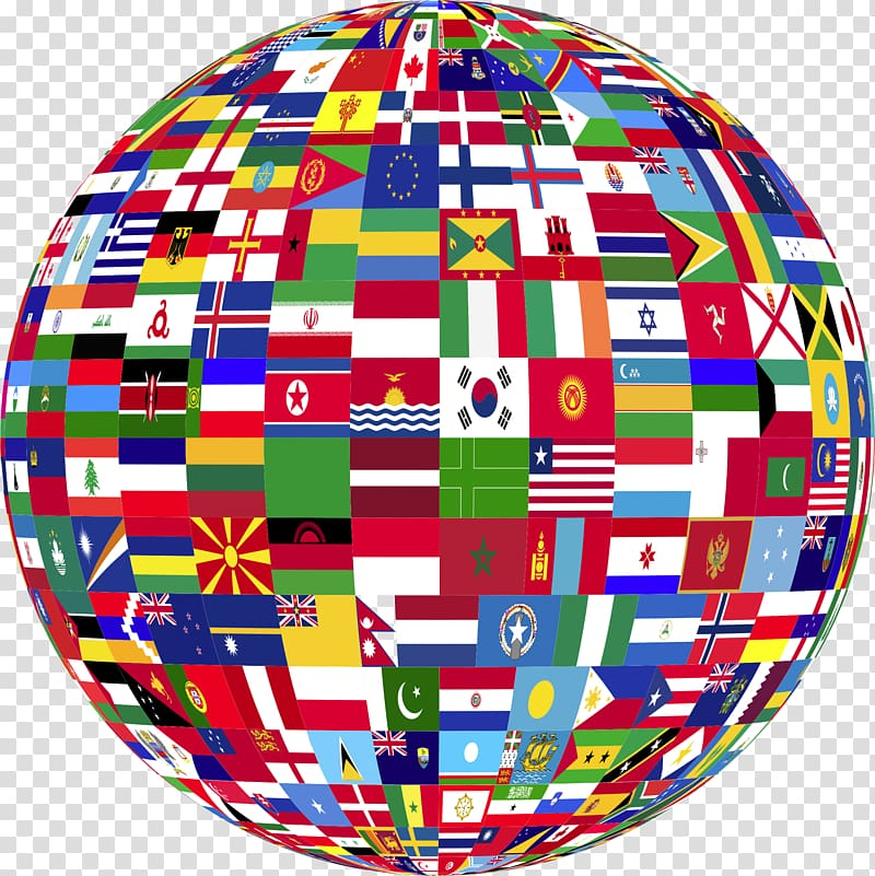 Globe Flags of the World United States, country transparent.