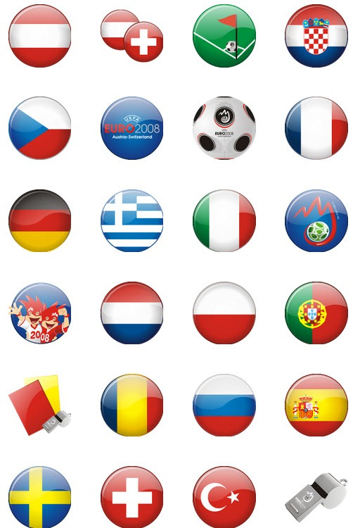 Mini Ball countries flags.