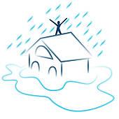 Clipart of Flash Flood Emergency k16316124.