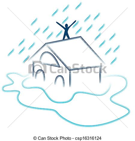 Vector Illustration of Flash Flood Emergency.