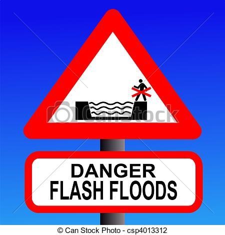 Flash flood clipart.