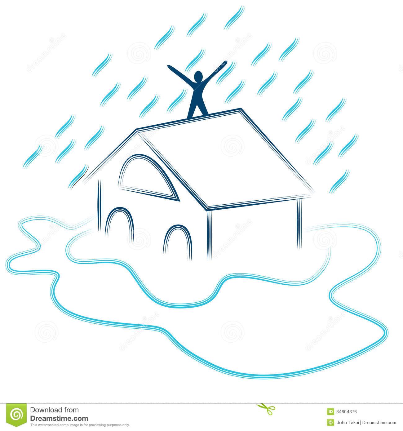 Flash Flood Emergency Royalty Free Stock Image.