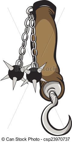 Vectors of Flail Medieval Arm Brace.
