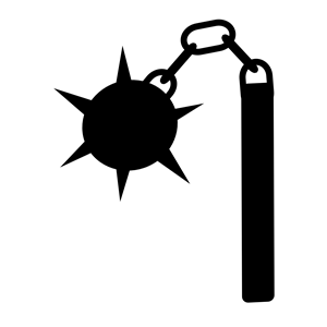 Morningstar flail clipart, cliparts of Morningstar flail free.