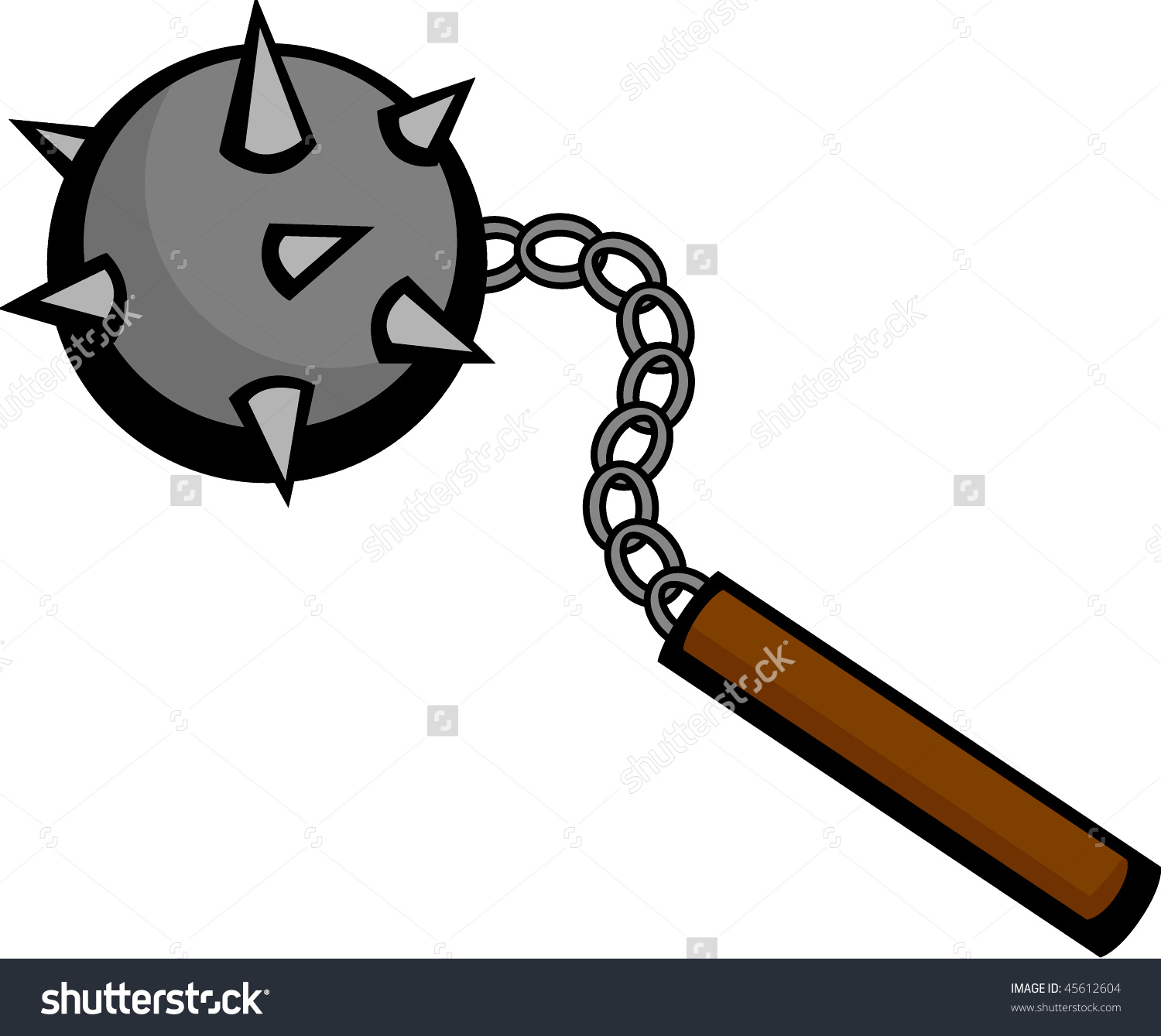 Flail Medieval Weapon Stock Vector 45612604.