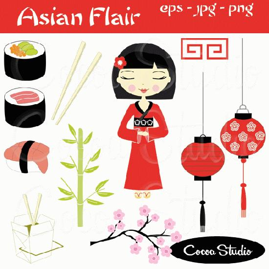 Asian Flair Clipart.