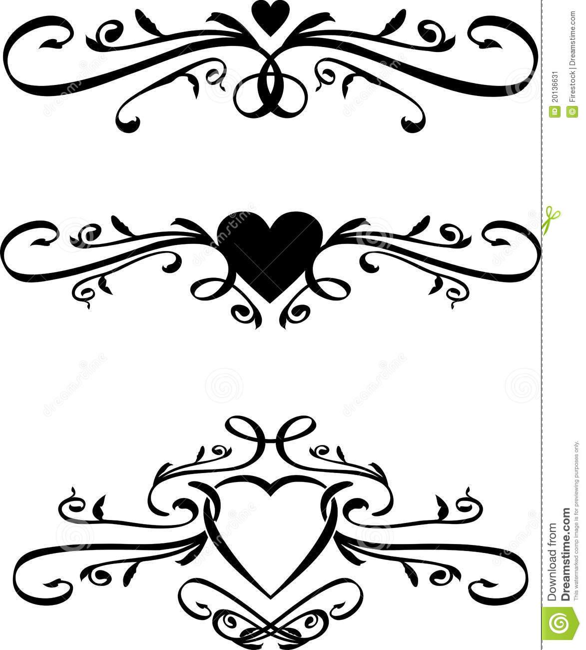 Heart Scroll Clipart.