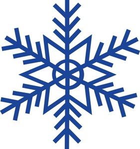 Snow flake clip art.