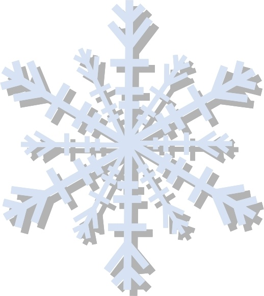 Snow Flake clip art Free vector in Open office drawing svg ( .svg.