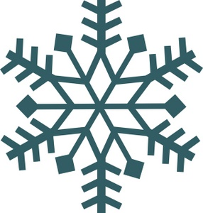 Free snow flake clip art.