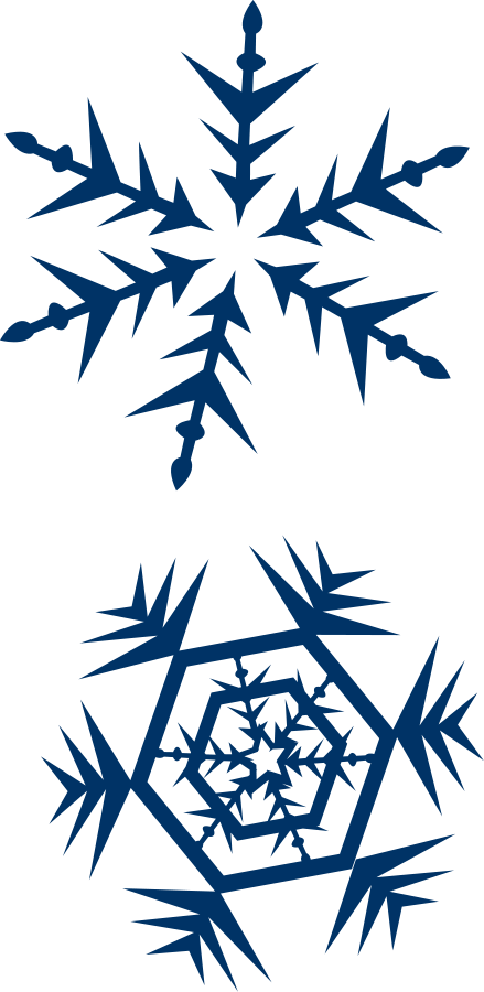 snow flakes Clipart, vector clip art online, royalty free design.