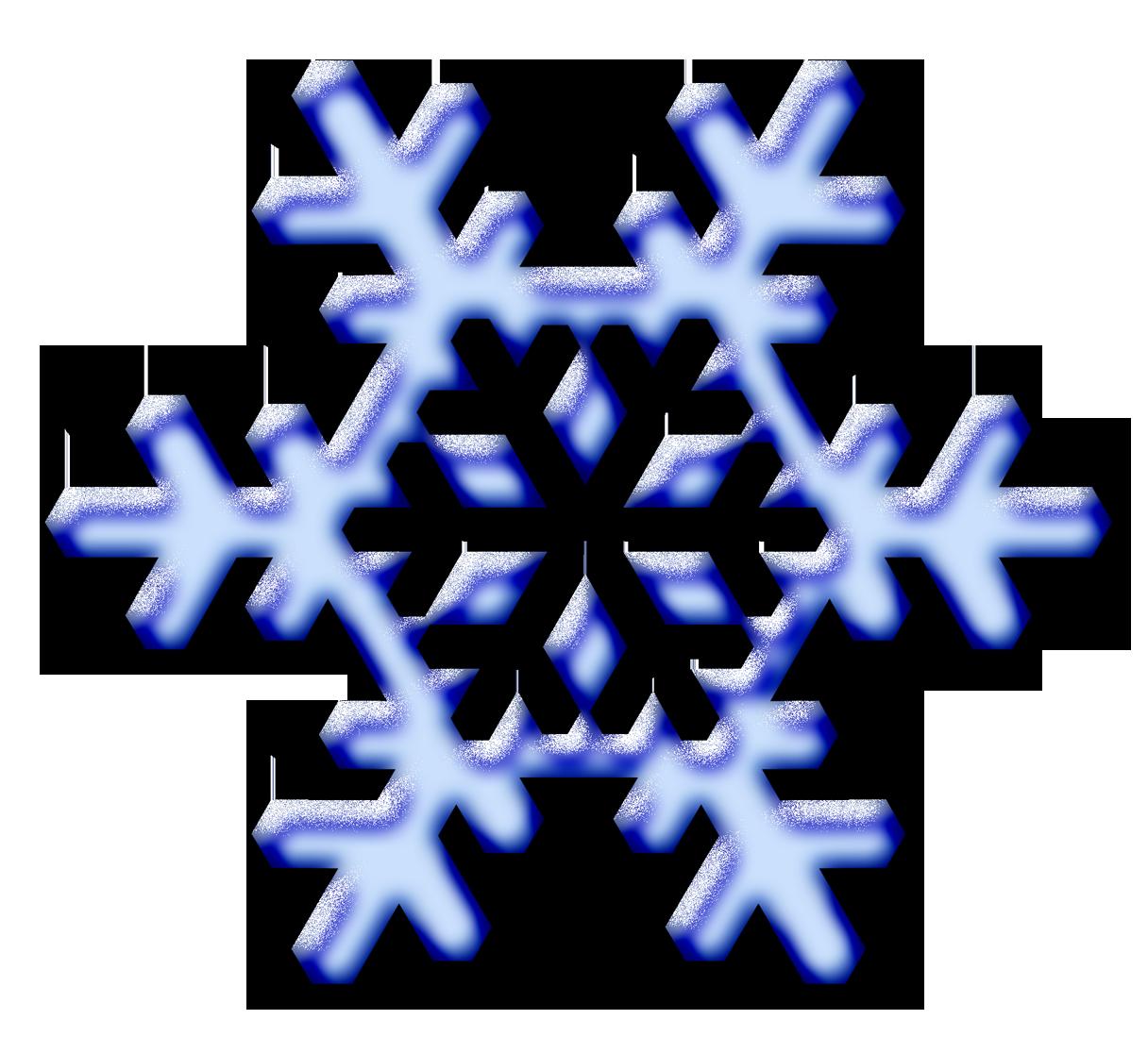 Clip Art Snow Flakes.