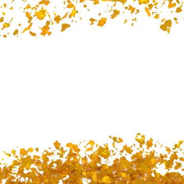 Gold Flakes PNG Images.