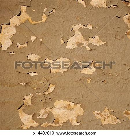 Stock Photograph of Brown Flaking Paint x14407819.
