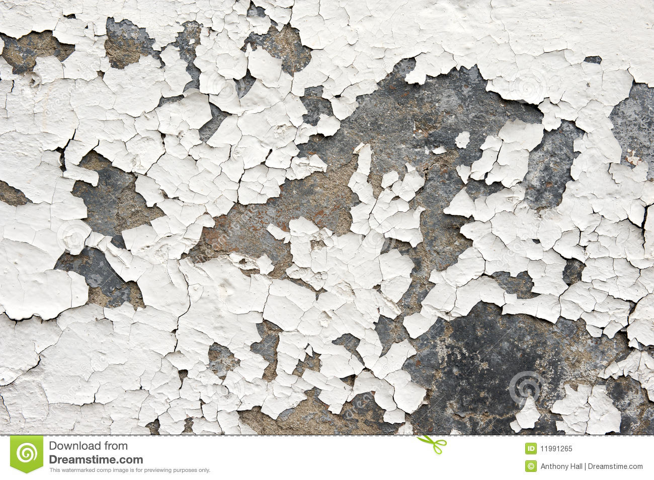 Flaking White Paint On Wall Royalty Free Stock Photo.