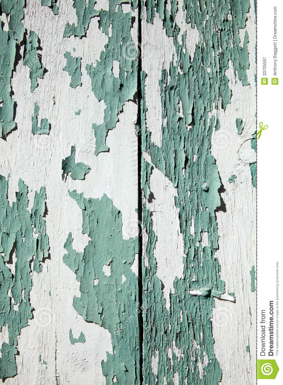 Green Peeling Paint Wood Background Royalty Free Stock Photography.
