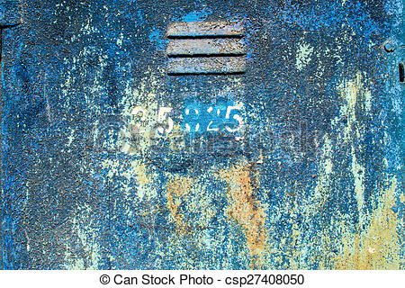 Stock Images of Flaking Paint on Metal with Grill Vent.