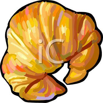 A Flaky Croissant.