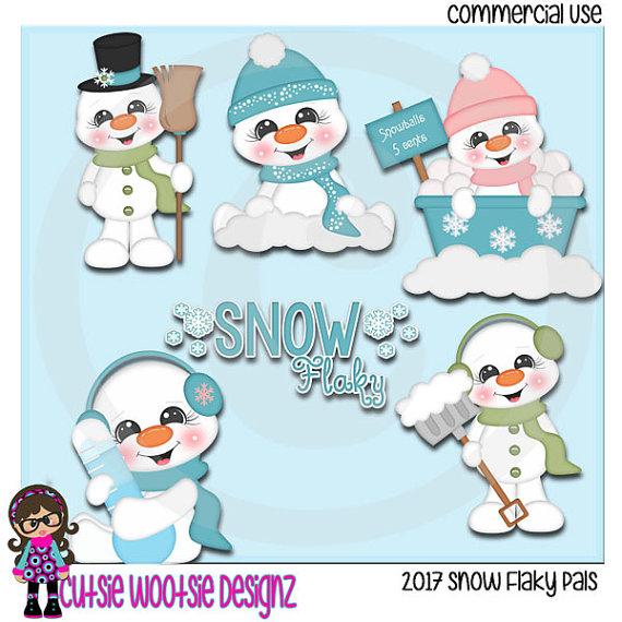 2017 Snow Flaky Pals Clip art Clipart by CutsieWootsieDesignz.