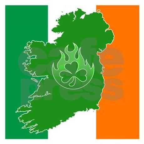 irish flag land flame Baseball Cap by AlvinImage.