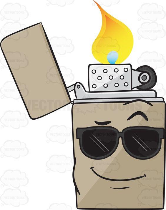Cool Looking Metal Lighter Emoji.