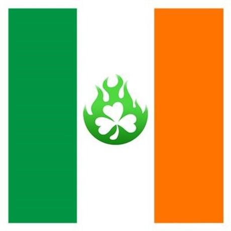irish flag flame Cap by AlvinImage.