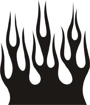 Fire Flames Clipart Black And White Grayscale Flames Clip.
