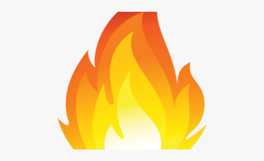 Fire Flames Clipart Single Flame.