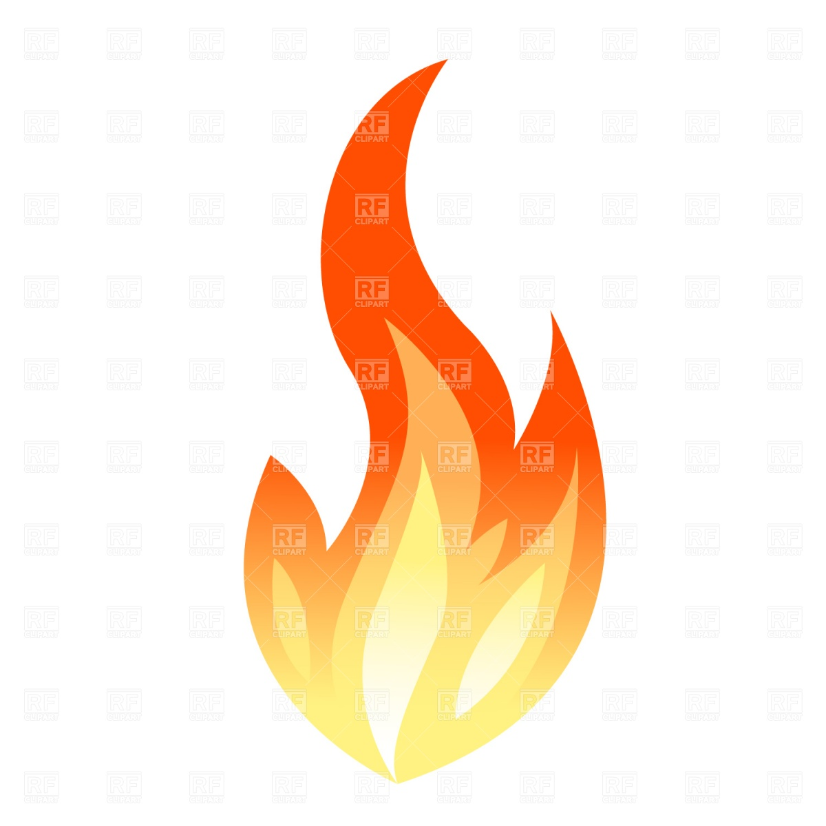 Vector Flames Free Clipart.