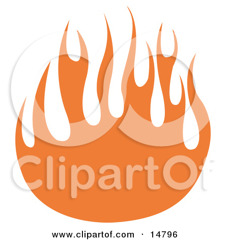 Wall of Orange Flames Clipart Illustration by Andy Nortnik #14775.