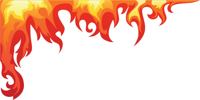 Bedroom Flame Wall Mural Decal.