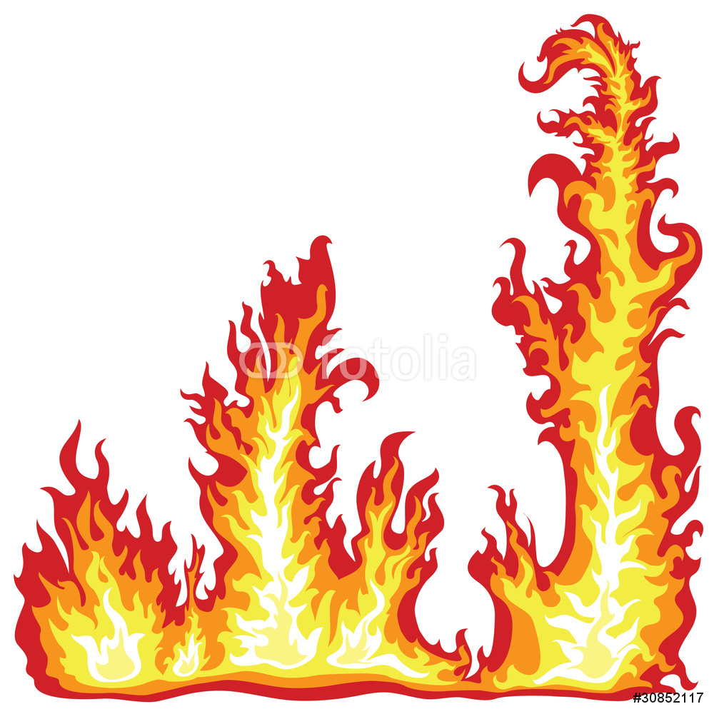 Frame Of The Fire Flame Wall Sticker.