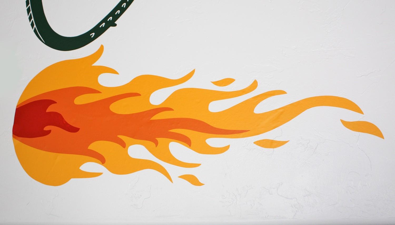 Dragon Flames Clip Art.