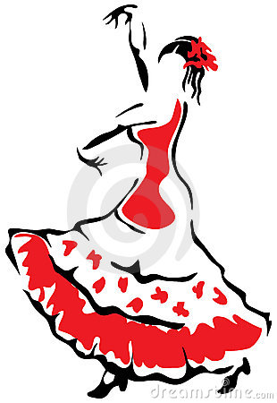 Flamenco Stock Illustrations.