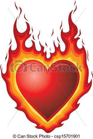 Vector Clipart of Heart Burn.