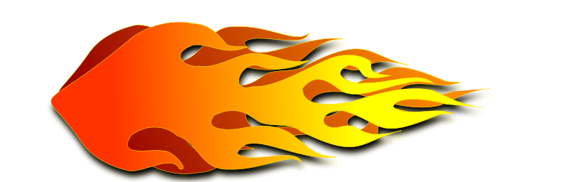 Flames burning candle flame clipart.