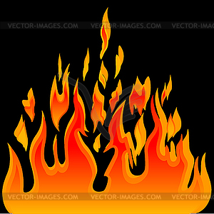 Flames burning clipart #17