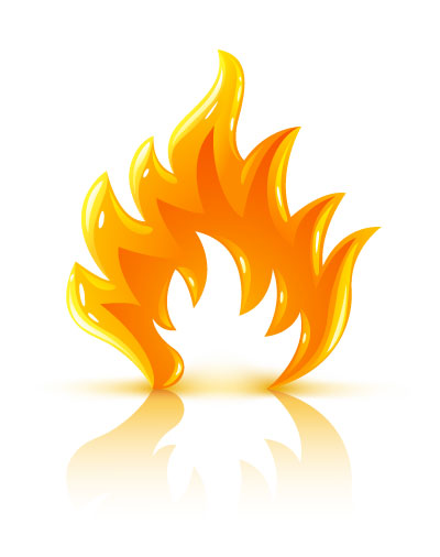 Burning fire clipart.