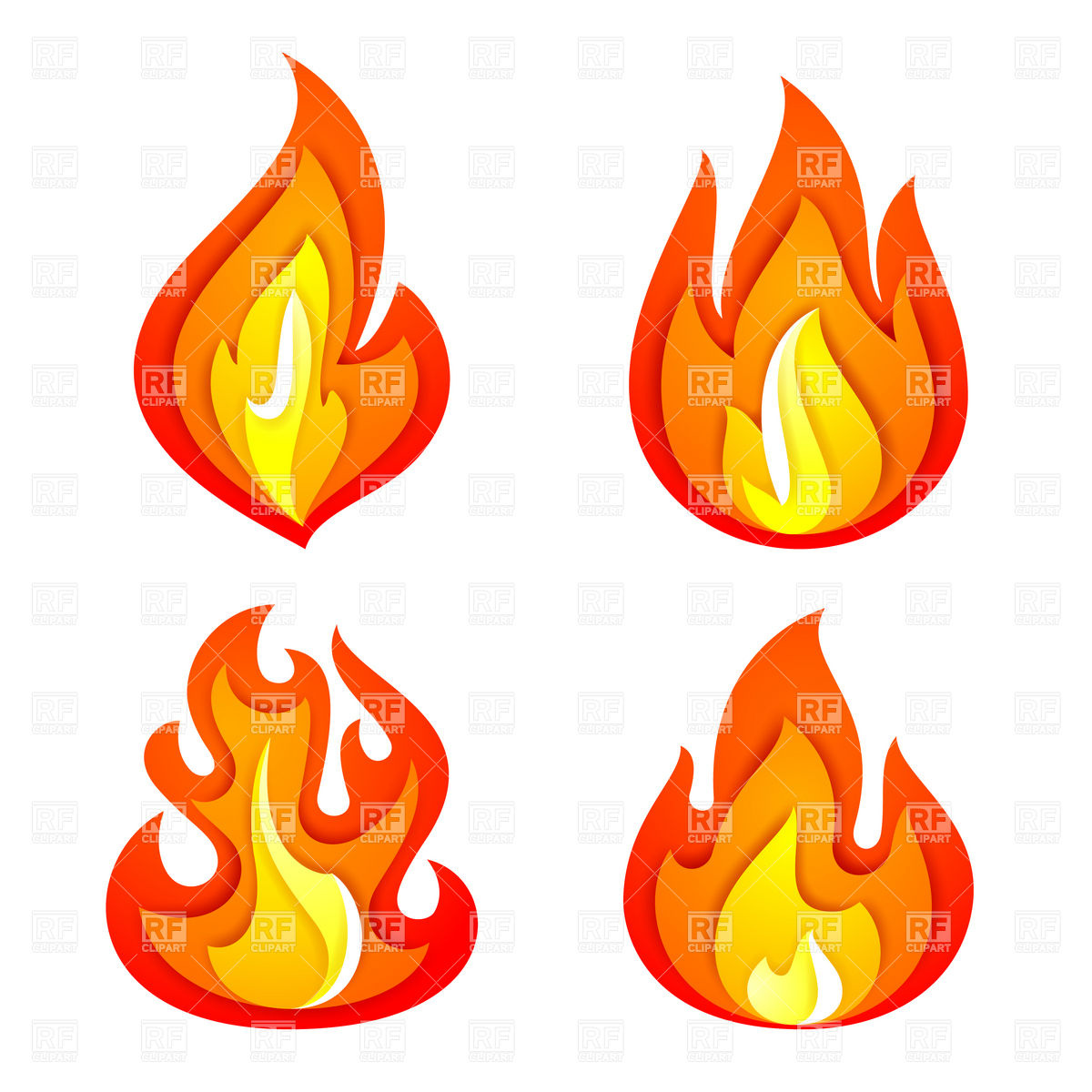 Fire Flames Clipart Free.