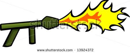 Flamethrower gif clipart.