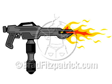 Free flamethrower clipart.