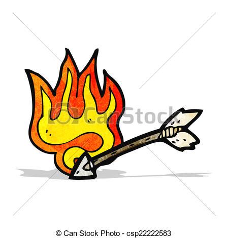cartoon flaming arrow.