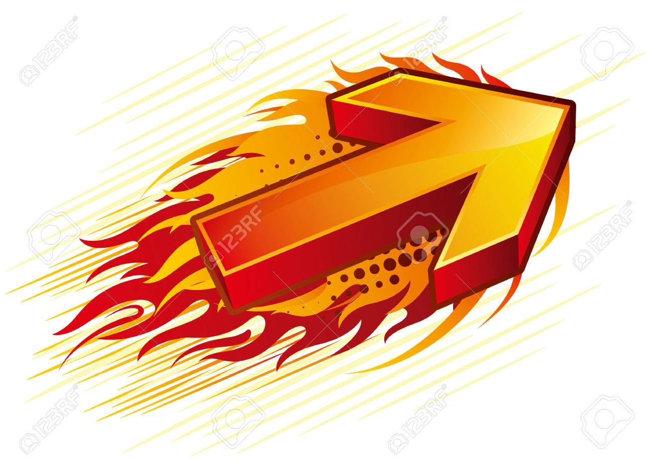 red flame arrow.
