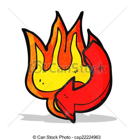flaming arrow cartoon.